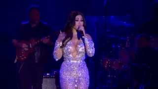 Haifa Wehbe on the stage of the Monte-Carlo Sporting Summer Festival on  August 7th