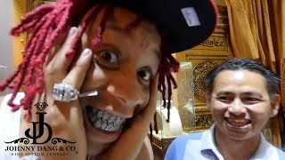"""Trippie Redd IMMORTALIZED The """"Shark Grill"""" with Johnny Dang"""