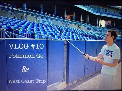 VLOG #10 POKEMON GO & WEST COAST TRIP