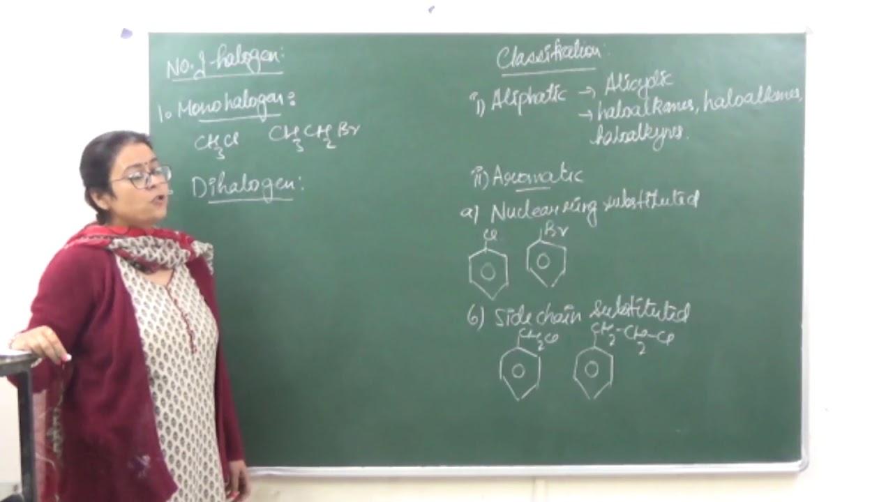 XII 10 1 Haloalkanes - Introduction