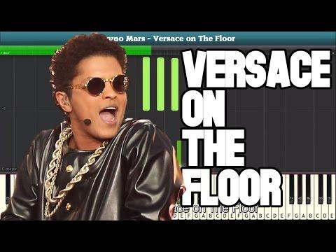 Versace on The Floor Piano Tutorial - Free Music Sheet (Bruno Mars)