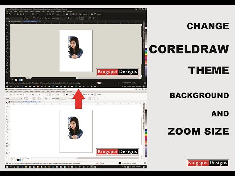 Change CorelDraw THEME Background Color & ZOOM