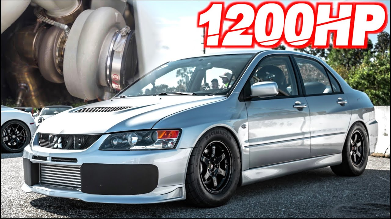 "Fastest Street Evo Ever! 1200HP 4G63 ""SUPERCAR KILLER"" - 65PSI OF BOOST (100-150MPH in 2s!)"