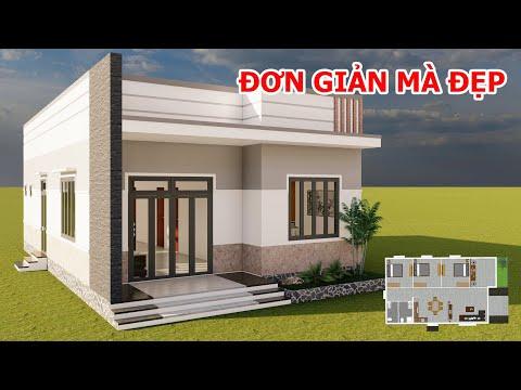 Nhà Cấp 4 Mái Bằng Đơn Giản Mà Đẹp | Mẫu Nhà 8x14M Có 3 Phòng Ngủ