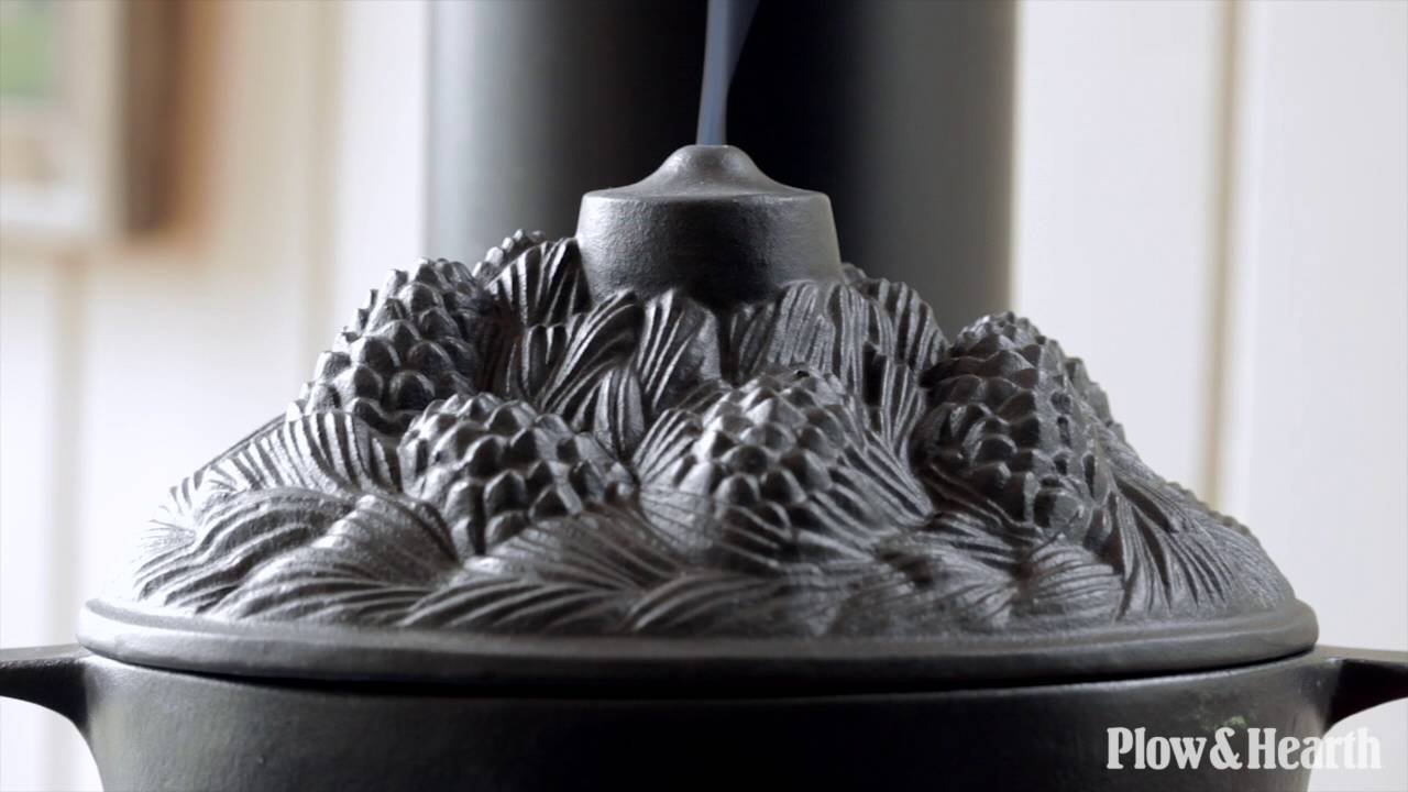 Cast Iron Pine Cone Candle Wood Stove Steamer Sku 12236