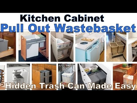 How To Convert Any Kitchen Cabinet Into Pull Out Waste Containers