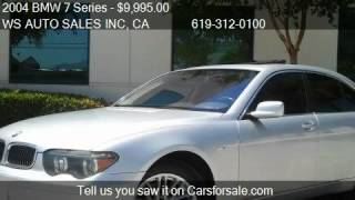 2004 BMW 7 Series 745i - for sale in EL CAJON , CA 92021