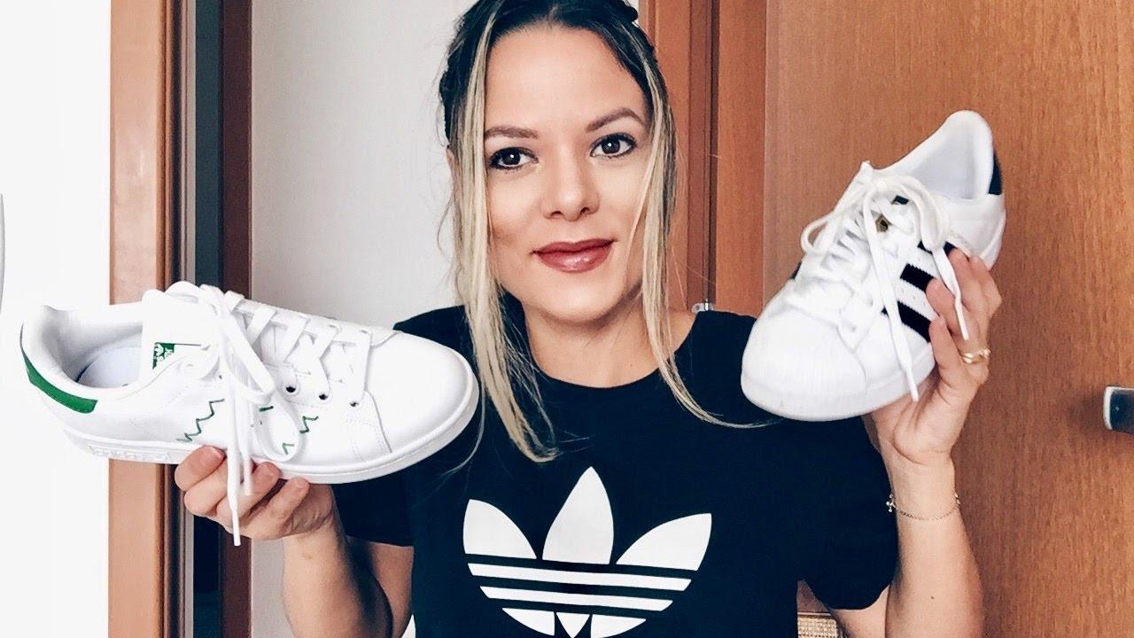Mujer hermosa ruido Visualizar  TÊNIS #2 (Adidas Superstar, Slipon, Stan Smith e Sneakers Converse) -  YouTube