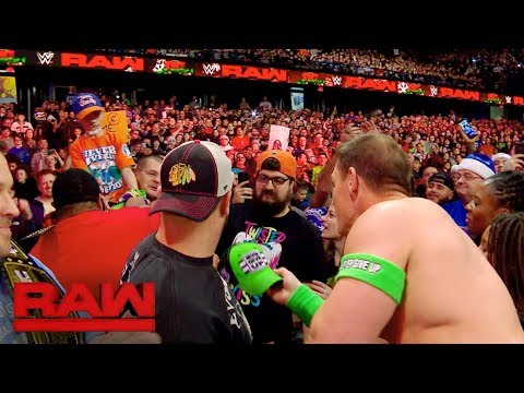 John Cena Gave A Special Fan A Christmas Gift On Raw
