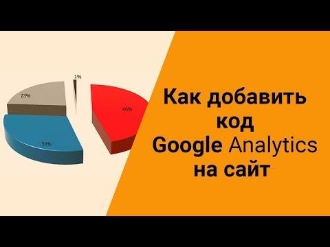 Как добавить код Google Analytics на сайт