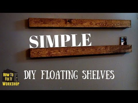 How To Make Floating Shelves - Any Length!