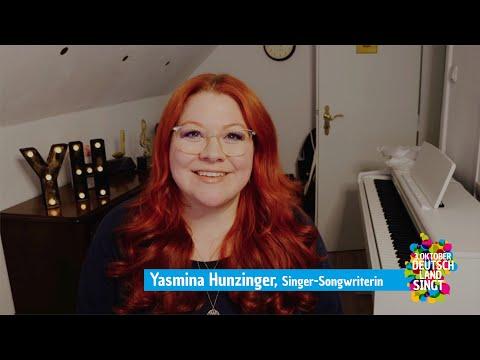"""Yasmina Hunzinger unterstützt die Aktion """"Deutschland singt"""""""