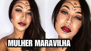 MAQUIAGEM MULHER MARAVILHA - CARNAVAL 01/30