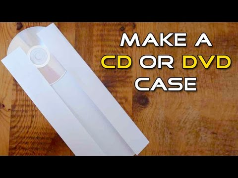 How to Make a CD or DVD Case from an A4 size Paper | Life Hacks