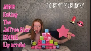 ASMR~ Eating Jeffree Star's EDIBLE Lip Scrubs! *EXTREME CRUNCH*