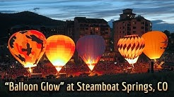 """Hot Air """"Balloon Glow"""" at Steamboat Springs, CO, by Jerry Blank"""