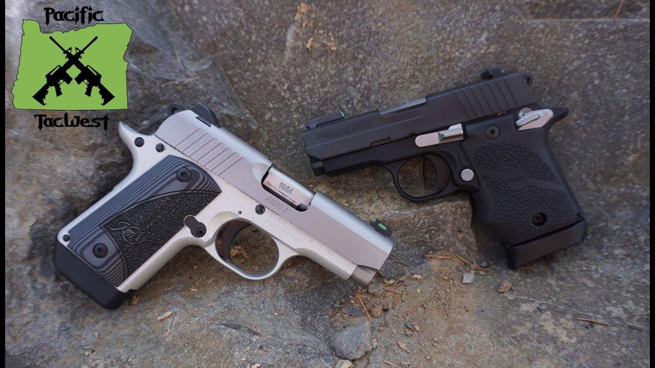 Sig P938 vs Kimber Micro 9: Range test of Kimber Micro 9 vs Sig P938