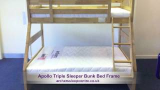 Sweet Dreams Apollo Triple Sleeper Bunk Bed Frame