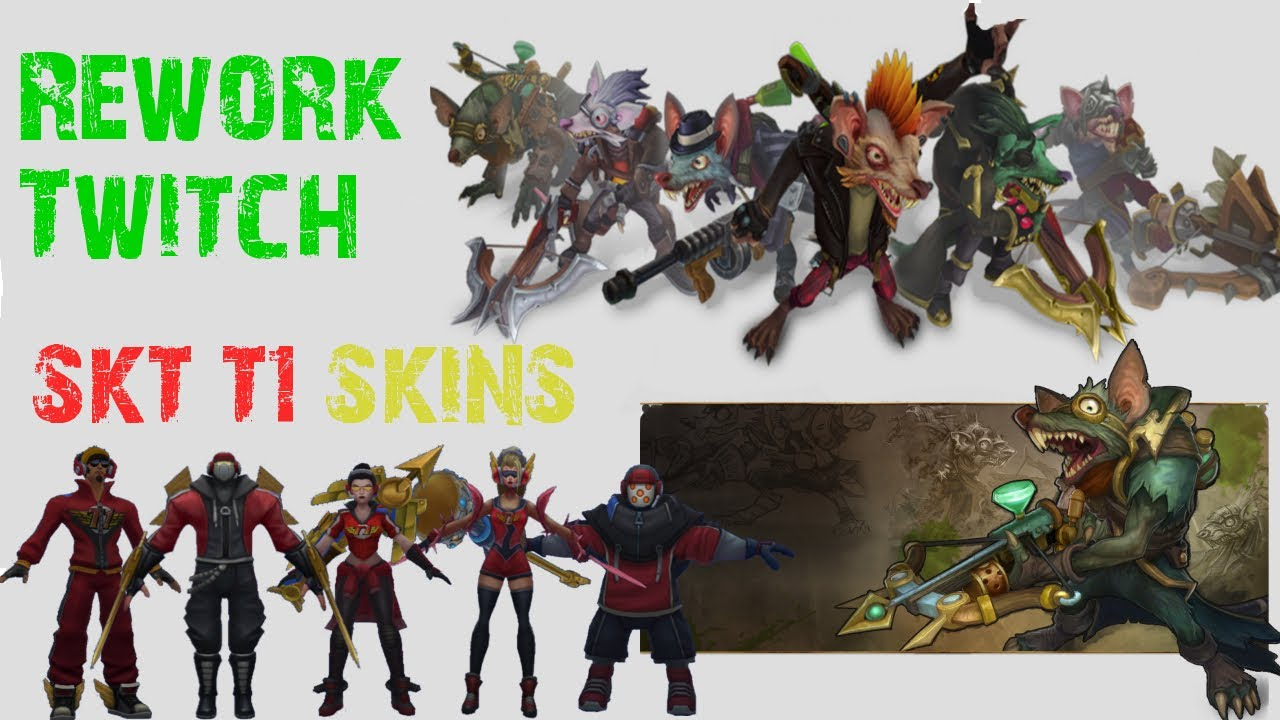 Rework Twitch - SKT T1 Skins - League of Legends - YouTube