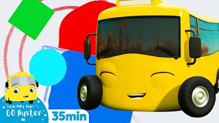 Different Shapes & Colours - Go Buster the Yellow Bus | 25 min  Nursery Rhymes & Cartoons | LBB Kids