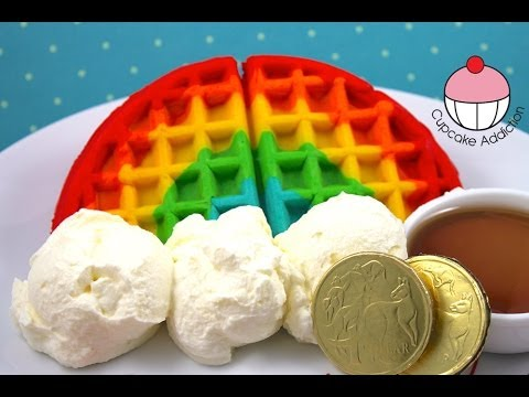 Save How to Make RAINBOW WAFFLES! Easy Rainbow Waffle Recipe by Cupcake Addiction Images
