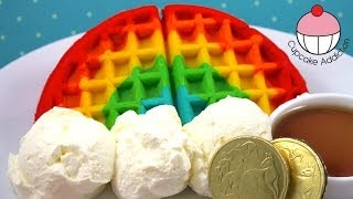 How to Make RAINBOW WAFFLES! Easy Rainbow Waffle Recipe by Cupcake Addiction(, 2014-03-16T08:57:10.000Z)