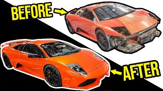 Rebuilding A Broken Fast & Furious Lamborghini Murcielago Movie Car In 10 Minutes