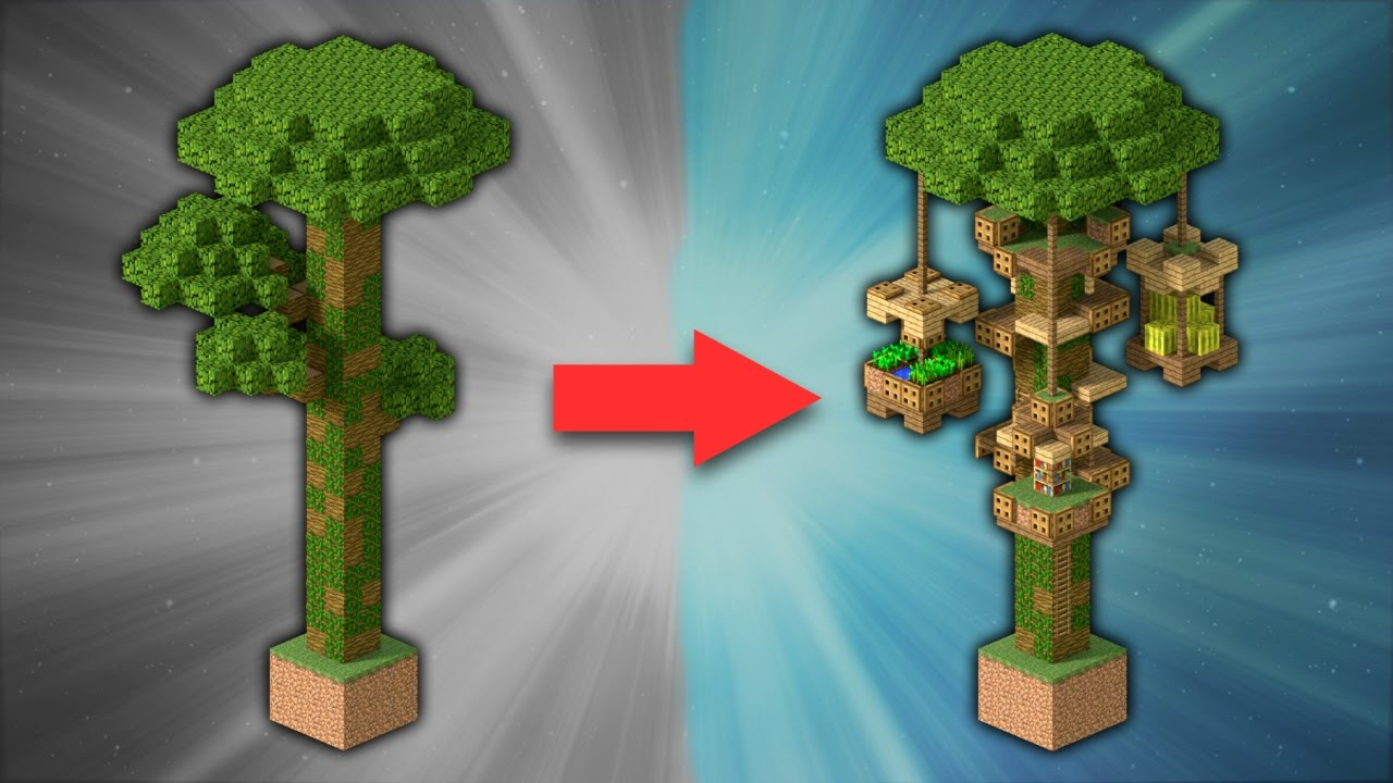 How to build a jungle treehouse minecraft youtube for Jungle house music