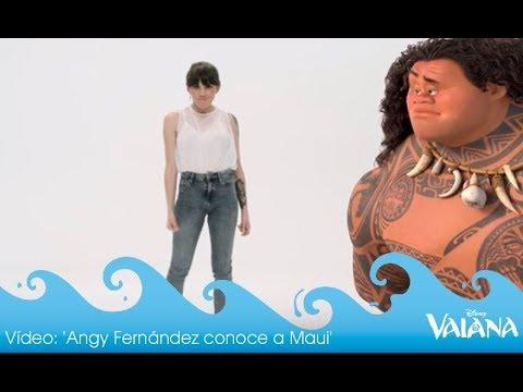 Vaiana | Angy Fernández conoce a Maui | HD