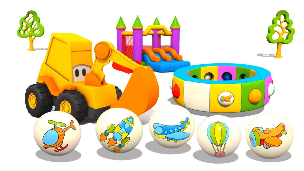 Cartoni animati per bambini l escavatore max e i mezzi di
