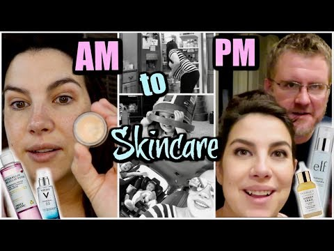 My AM & PM Skincare Routines... & My Day In-Between! thumbnail