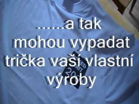 fbd7db5a0c97 Vlastní tričko - nažehlovačky - LOGOTISK.cz - YouTube