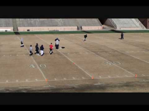 Donald Payne Football Catches With Brad Johnson