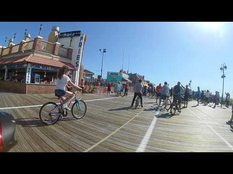 Ocean City NJ, Boardwalk Bike Ride 5/27/17 Part 1