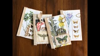 TUTORIAL - Making Booklets Using Old Book Pages