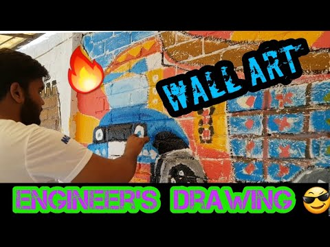 MY FIRST WALL PAINTING   VLOG 8   Engineer's life  