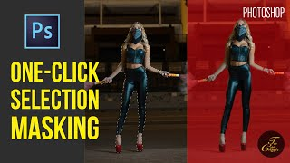 New 'Select Subject' in Photoshop CC 2018 |  Easy One-Click Selection Masking Tutorial
