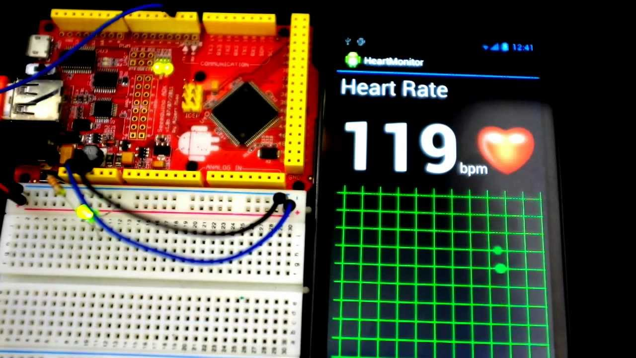 heart rate monitor using android and arduino youtube. Black Bedroom Furniture Sets. Home Design Ideas