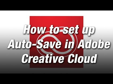 How to set up Auto Save in Adobe Creative Cloud