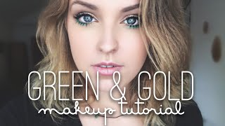 Green & Gold Makeup Tutorial Thumbnail