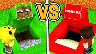 MİNECRAFT GİZLİ GEÇİT VS ROBLOX GİZLİ GEÇİT! 😱 - Minecraft