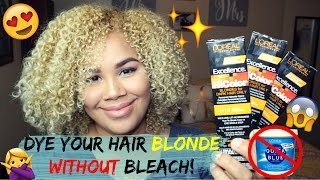 How to dye your hair blonde WITHOUT bleach! | Naturally Sade