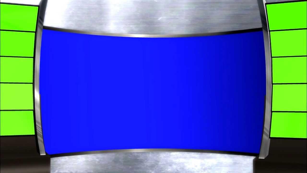 FREE HD Studio background loop - Green screen Blue screen