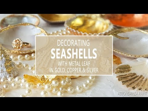 Decorating Seashells in Gold, Silver or Copper