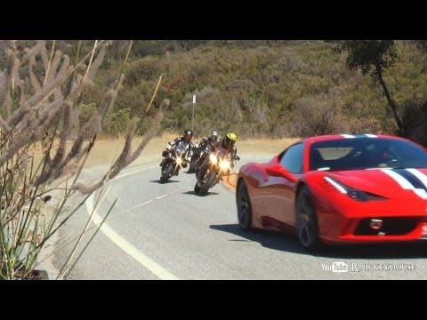 Mulholland Riders 7/15 - SuperMoto , Groms , Kawasaki H2, R1, Harley Stunts
