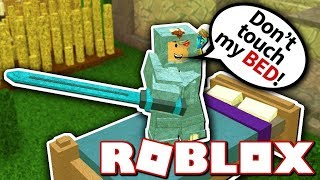I WON BEDWARS FOR MY FIRST TME!!?   Roblox (Not Minecraft)