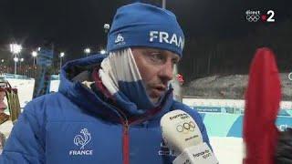JO 2018 -BIATHLON FÉMININ -Julien Robert, l'entraîneur d'Anaïs Bescond heureux de cette médaille
