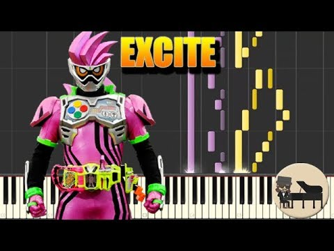 🎵 FULL Excite - Kamen Rider Ex-Aid OP [Piano Tutorial] (Synthesia) HD Cover