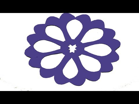 Paper Cutting-How to make Easy & Simple paper cutting Flower Design? Origami paper craft Tutorials.
