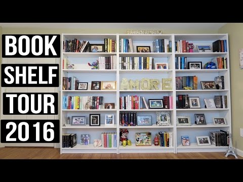 BOOKSHELF TOUR with BOOK COVERS | 2016